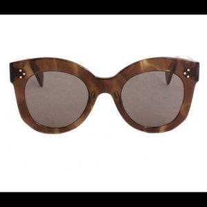 NEW CELINE Chris Sunglasses in Brown Havana